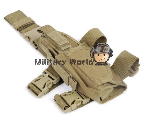 2PCS/LOT Sports Gear Tactical Drop Leg Left Hand Holster Camping Equipment Molle Leg Bag With Velcro Strap Buckle Pouch(China (Mainland))