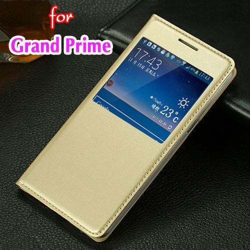 Тонкий посмотреть оболочки противоударный сумка откидная крышка кожаный чехол кобура для Samsung Galaxy премьер-страусовых G530 G530F G530H G531H G531F