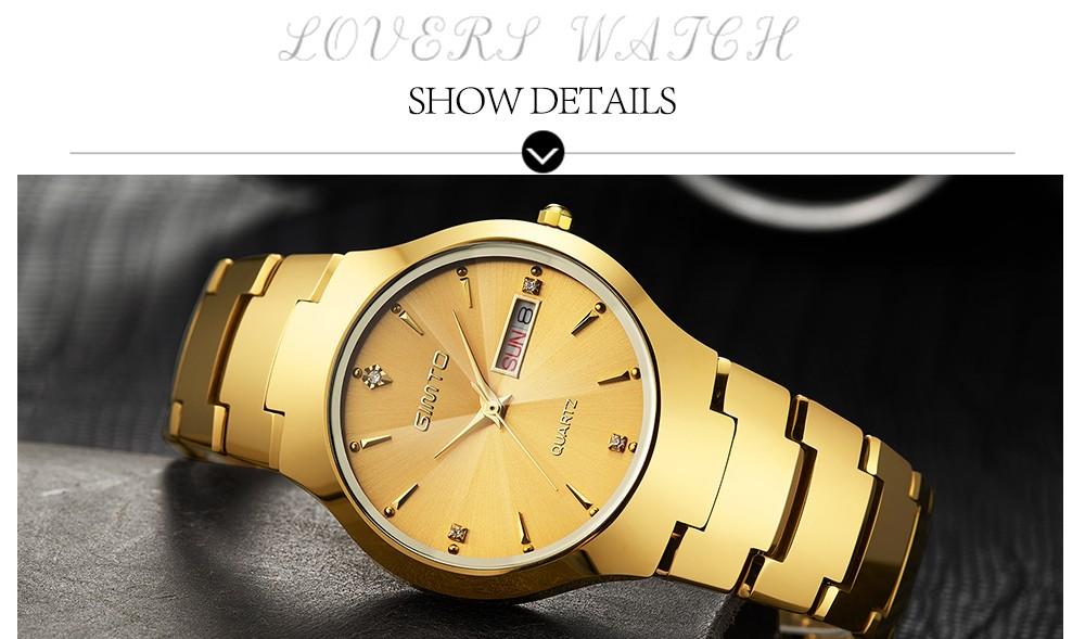 2016 GIMTO Моды Вольфрамовой Стали Часы Мужчины Женщины Кварцевые Наручные Часы Водонепроницаемые Часы Влюбленных Часы Reloj Hombre Relogio Montre