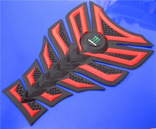 Free shipping 6PCS For DERBI BENELI APRILIA YAMAHA HONDA 3D Decal Sticker Motorcycle Polyester Rubber Tank Pad Protector Red(China (Mainland))