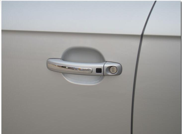 4Pcs/set DIY Stainless Steel Car Handle Sticker Auto Accessories Protection Door Handle Cover For AUDI Q3,Q5,Q7,A4L A6L(China (Mainland))