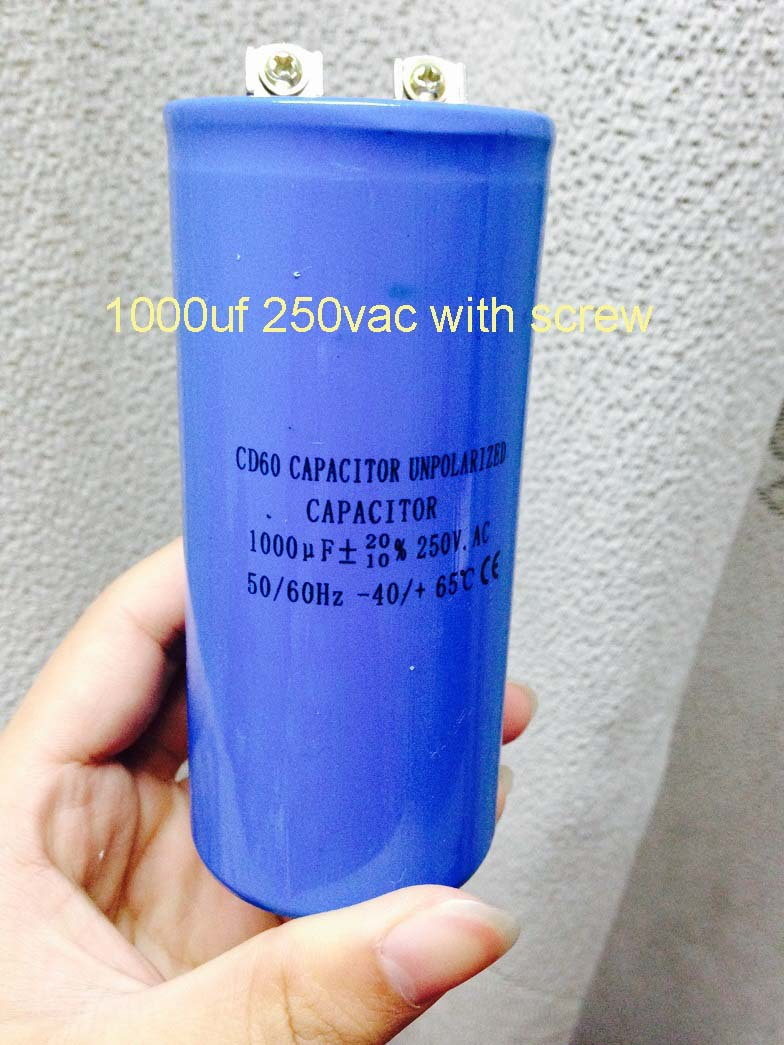AC Motor Start Capacitor CD60 Capacitor 2* 1000uf 250v Screw Type Via Business Express(China (Mainland))