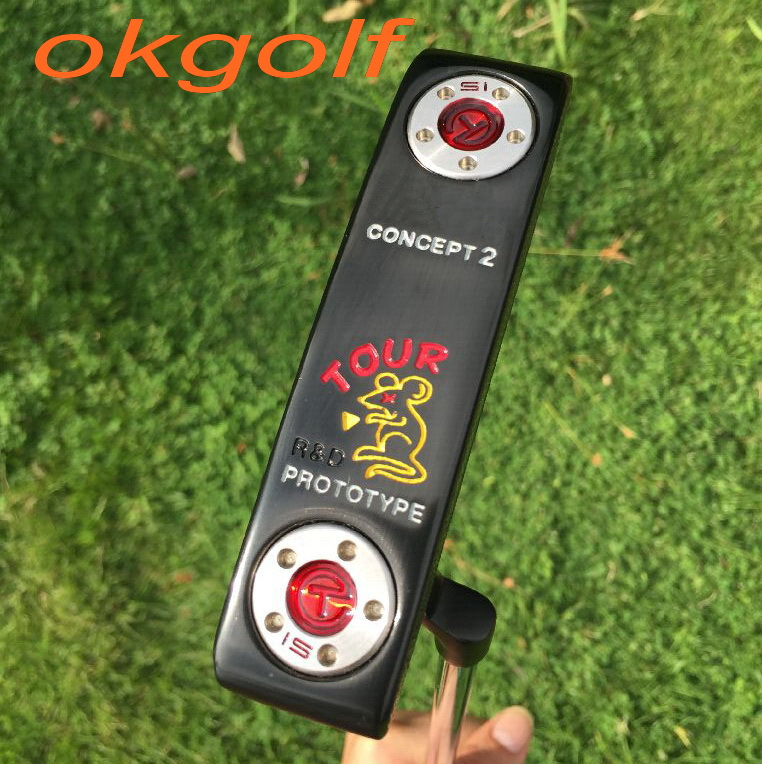 2016 New golf putter Tour Rat putter concept 2 with Circle T weights removable silver or black golf clubs OEM putter<br><br>Aliexpress