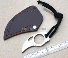 MC Tactical Claw hobby survival Karambit Ring 3″ Knife mini pocket knife camping with Leather Sheath free shipping