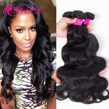 Brazilian Body Wave 3 Pcs Queen Hair Product Brazilian Hair Weave Bundles 7A Grade Human Hair Brazilian Virgin Hair Body Wave(China (Mainland))