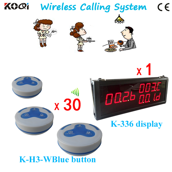 Wireless Paging System Service Fast Food Restaurant Equipment K-336 K-H3-WBlue Waiter Calling Bell For Restaurants(China (Mainland))