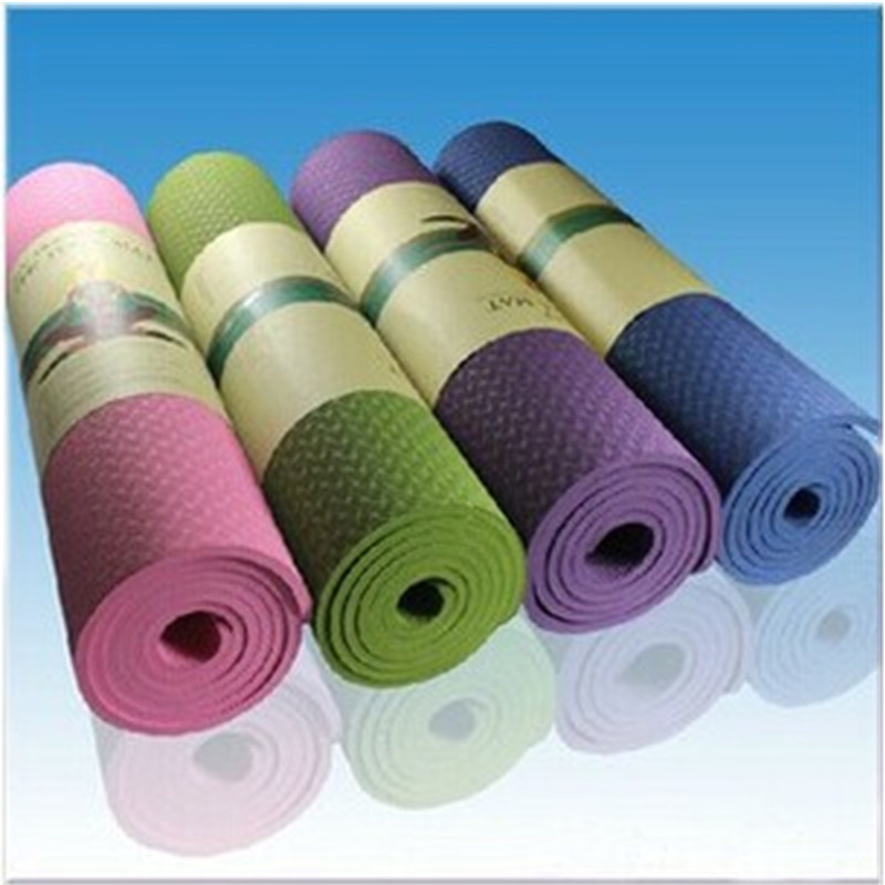 2015 Hot Sale New Arrival 6mm Thick Non-Slip Yoga Mat Exercise Fitness Lose Weight Exercise Mat Body Building mats  Wholesale<br><br>Aliexpress