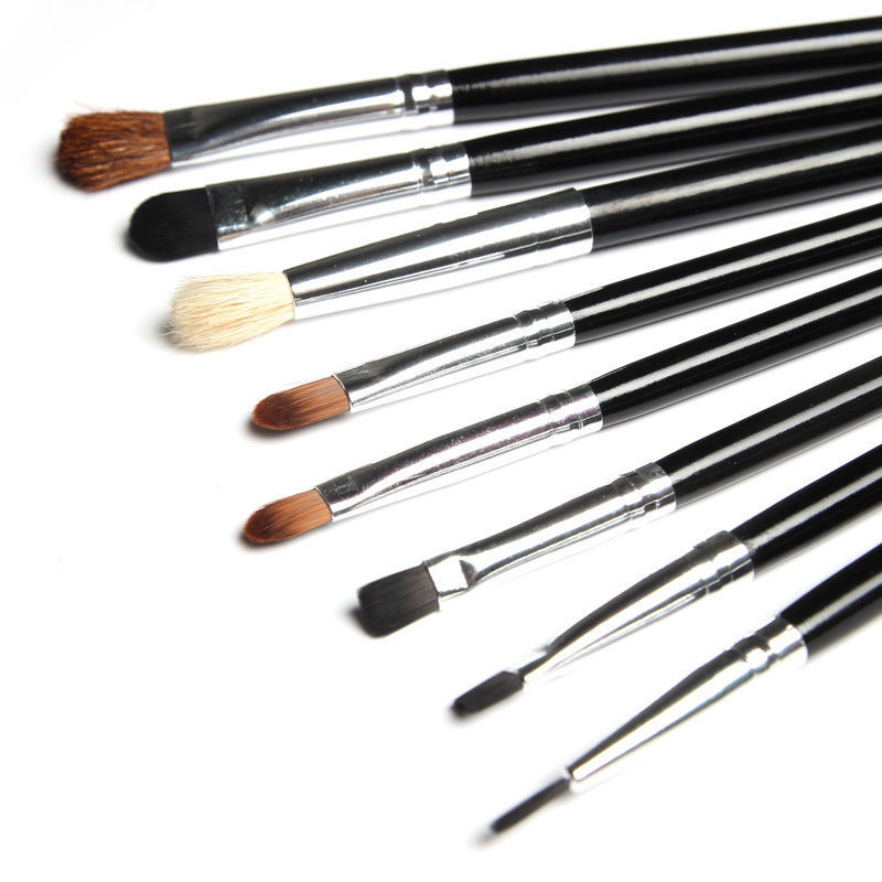 8pcs eye makeup brushes set tool pinceaux maquillage eye shadow eye liner lip pinceaux. Black Bedroom Furniture Sets. Home Design Ideas