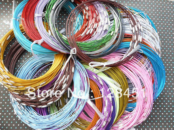 Free shipping 100pcs (Mixed colors)1.0mm 18 inch stainless steel wire necklace cord