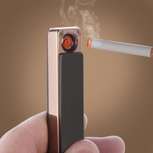 usb 5V charging MINI slim windproof lighter metal electronic cigarette lighter For men and women fashion gift charm Business(China (Mainland))