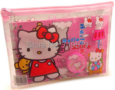 Здесь можно купить  50set/lot Student Hello kitty Plastic pencil Pen Note Rule writing case sets school stationery Set for kids 0156 Free shipping 50set/lot Student Hello kitty Plastic pencil Pen Note Rule writing case sets school stationery Set for kids 0156 Free shipping Офисные и Школьные принадлежности