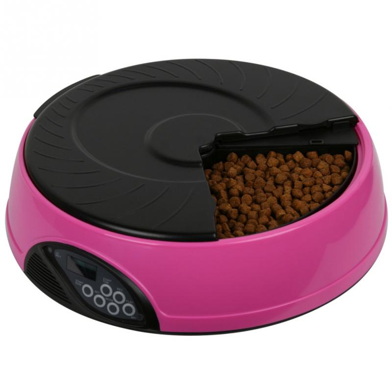 6 Meal Timed Automatic Pet Feeder Auto Dog Cat Food Bowl Dispenser Programmable(China (Mainland))