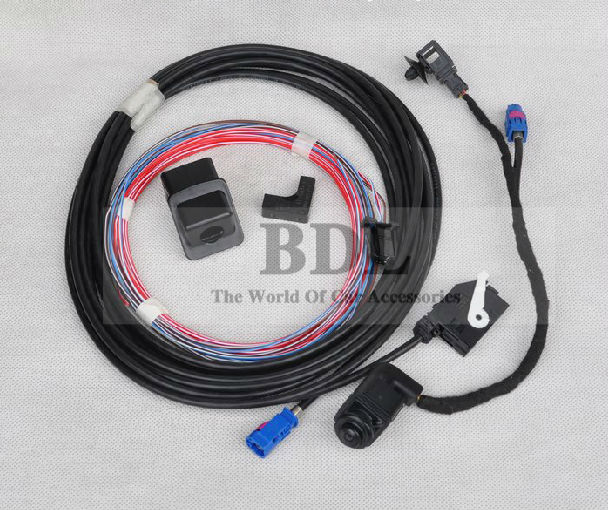 Imported Blue Connector OEM Original VW Scirocco RGB Rear View Reversing Camera RVC RCD510 RNS510 RVC 56D 980 551(China (Mainland))