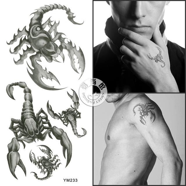 Men&Women waterproof tattoo sticker - scorpions patterns suit