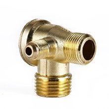 10pcs/ Lot New 3 Port Brass Male Threaded Check Valve Connector Tool for Air Compressor(China (Mainland))