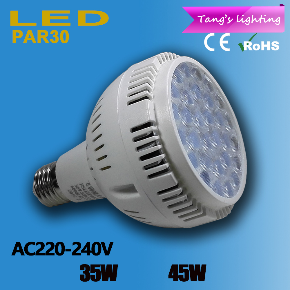 Hight Power PAR30 E27 LED spot light 30pcs 3030SMD high lumens led bulb lamp AC220V-240v 35W/45W PAR30 LED lamp(China (Mainland))