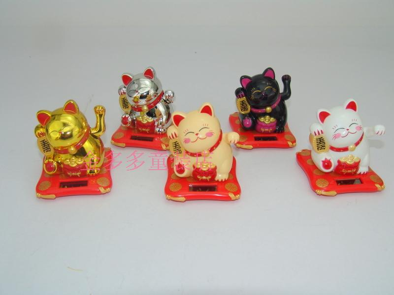 [day] special offer solar cat car solar ornaments(China (Mainland))
