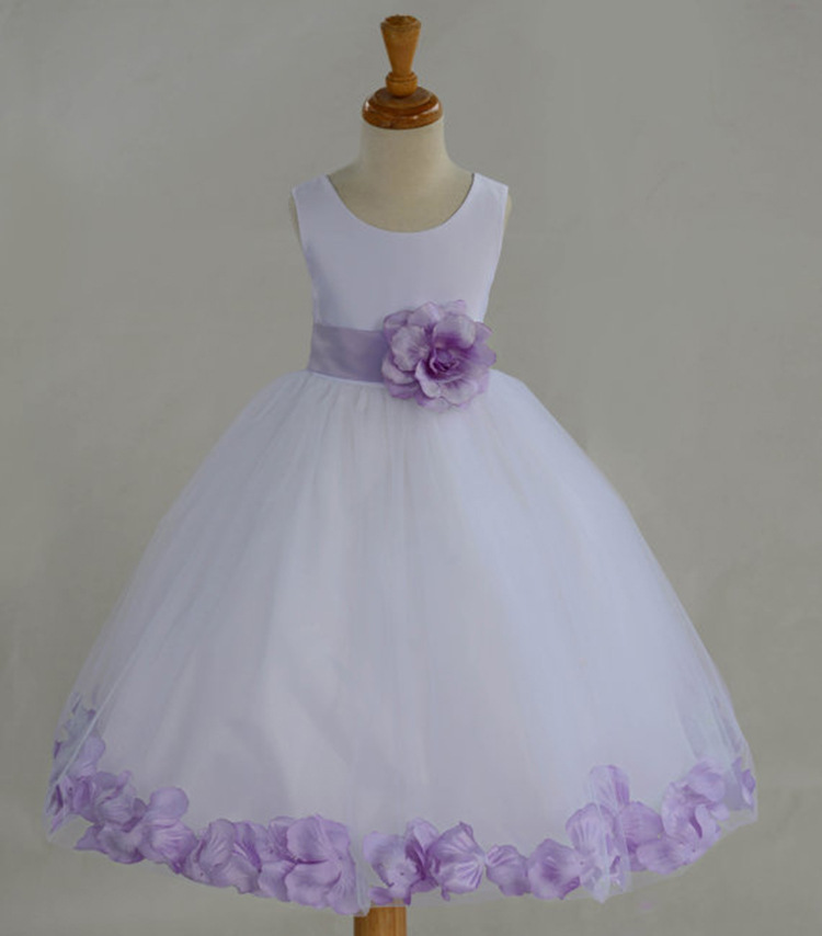 Girl party Dress Princess Dress Knee-length Girls Clothes Sleeveless Chiffon Wedding Gowns Little Girl Dresses Children Clothing