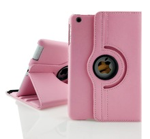 Free shipping Pu Leather 360 Rotating Case Smart Stand For New APPLE iPad mini 1 2 3 Tablet Case gift screen film(China (Mainland))