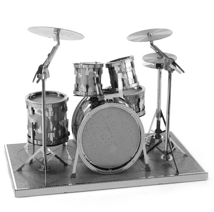 DIY Drum Set Model Building Kits Puzzle 3D Metal Model Jigsaw Puzzle for Children and Adults Gift,Free Shipping(China (Mainland))