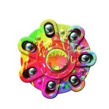 Buy Camouflage Finger spinner Seven Flap Tri-Fidget Toy Plastic Iron Hand Spinner Steel Bearing Autism ADHD Anxiety Stress for $1.49 in AliExpress store