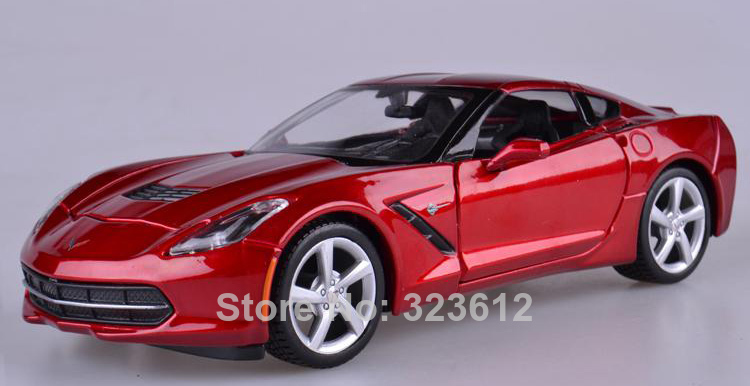 1:24 Chevrolet 2014 Corvette Stingray Coupe Alloy Diecast Vehicle car Model Red B2196(China (Mainland))