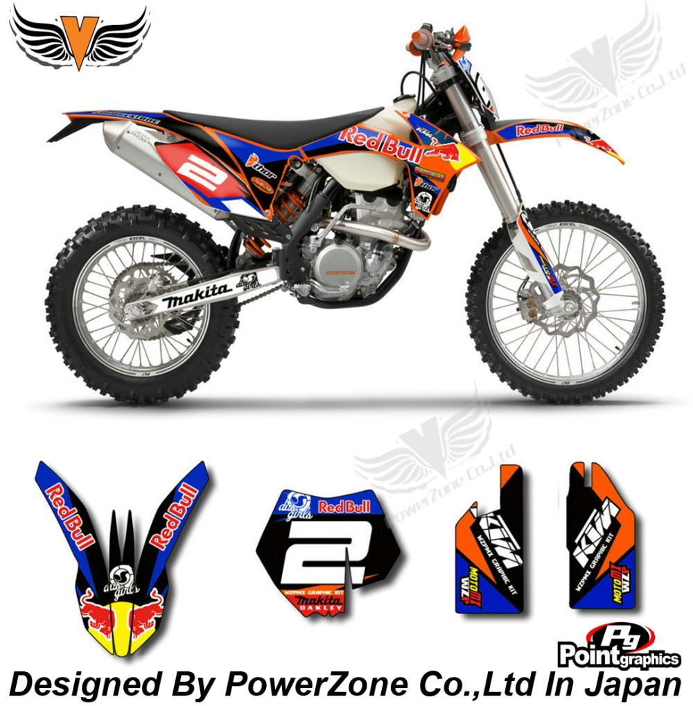 Top Quality Team Graphics & Backgrounds Decals 3M Stickers Red ne Kits For KTM SX SXF EXC 125 250 450 525 1998-2014 Free Shpping