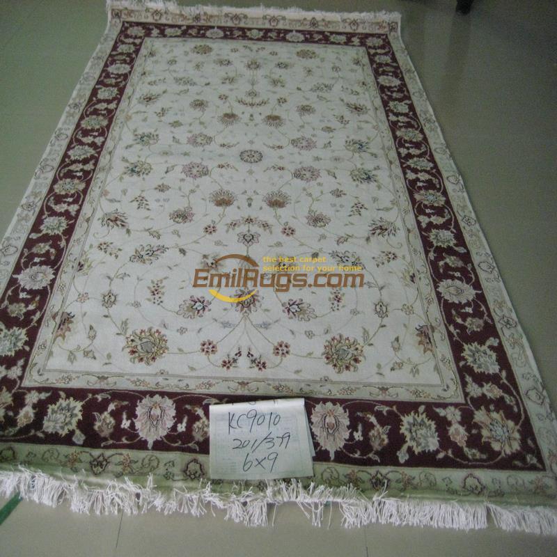Hand knotted New Zealand wool carpet silk silk carpet Sitting room villa study European carpet(China (Mainland))