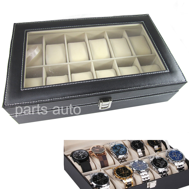 new leather 12 mens box large acrylic top display