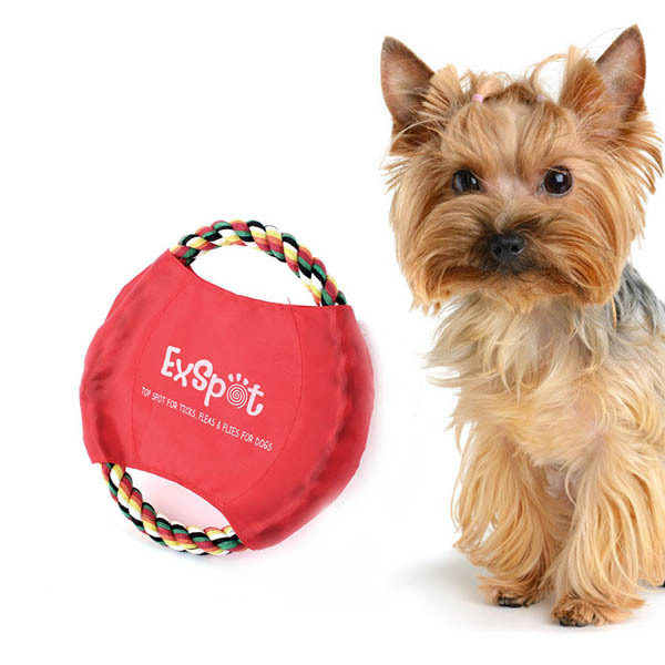 Pet Toy Dog Training 7.5inch Cotton Rope Frisbee Flyer Throw Chew Tug FetchWX(China (Mainland))