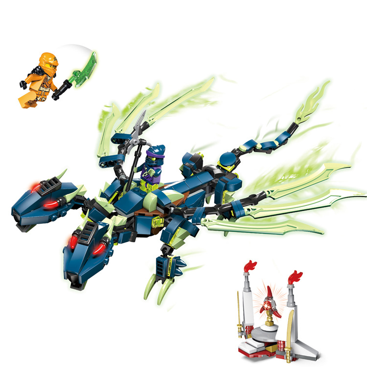 NEW Two headed dragon Ninjago Marvel Ninja Building Blocks Brick Toys Minifigures Ninjagoed magformers Compatible With Lego<br><br>Aliexpress
