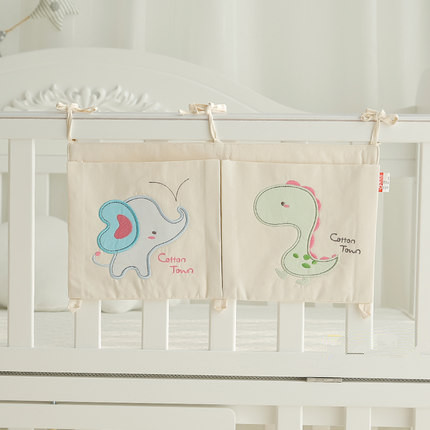 Hot sales Pure Cotton Multi fuction Crib Organizer bag Baby bed Toy Diaper Pocket for Crib Bedding Set(China (Mainland))