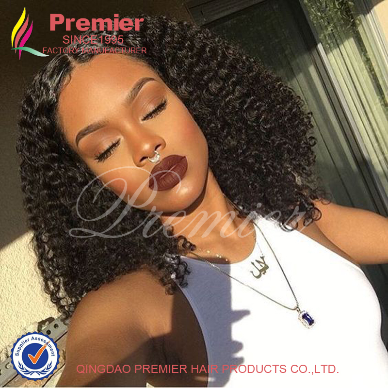 Rihanna150%High Density Unprocessed Virgin Malaysia Full Lace Wig /Lace Front Wig Kinky Curly Glueless Full Lace Human Hair Wigs
