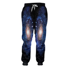 OGKB גבר החם אלסטי מותניים ארוך 3D מכנסי קז'ואל מודפסים כוכבים שמיים היפ הופ גדול גודל בגדי Homme חורף מכנסי טרנינג(China)