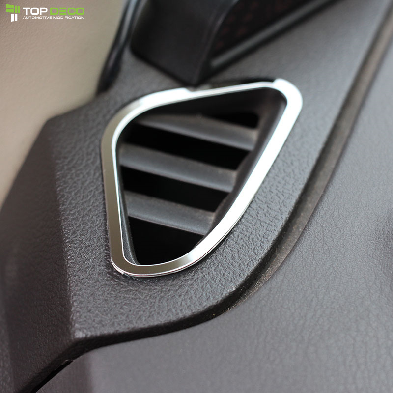 Car Styling Air Conditioning Vent Cover Sticker Accessories Fit For Ford Focus 2 MK2 2005 2006 2008 2009 2010 2012 2013 2014(China (Mainland))