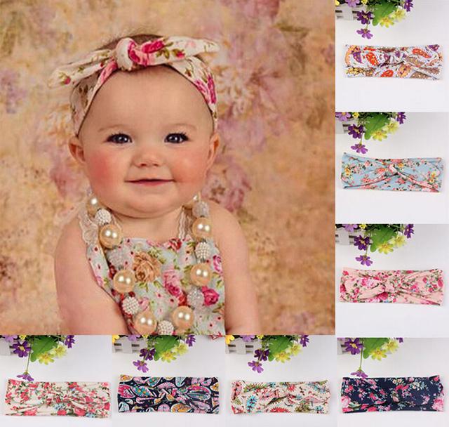 1 шт. новые симпатичные новорожденный ребенок прохладный печать узел эластичность ...