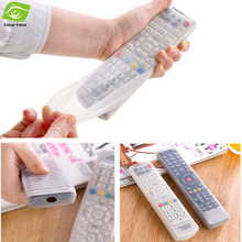 Silicone TV Remote Control Cover Air Condition Control Case Waterproof Dust Protective Storage Bag Organizer(China (Mainland))