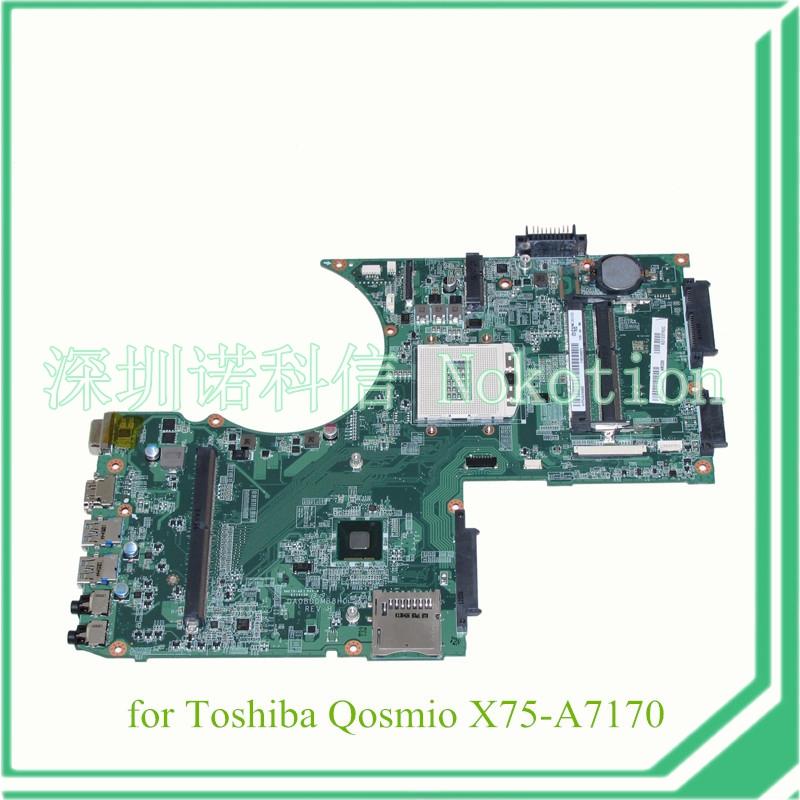 DA0BDDMB8H0 A000240360 For toshiba Qosmio X70 X75 X75 A7170 laptop motherboard 17 3 inch with graphics