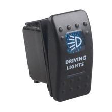 2016 Newest Waterproof Bar Carling Rocker Toggle Switch Blue LED Driving Light Car Auto Rocker Switch