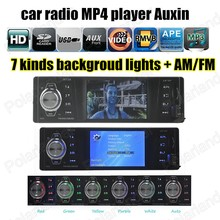 Car Auto Audio remote control Radio Stereo FM MP4 Player Auxin with USB Port and SD Card Slot AM FM(China (Mainland))