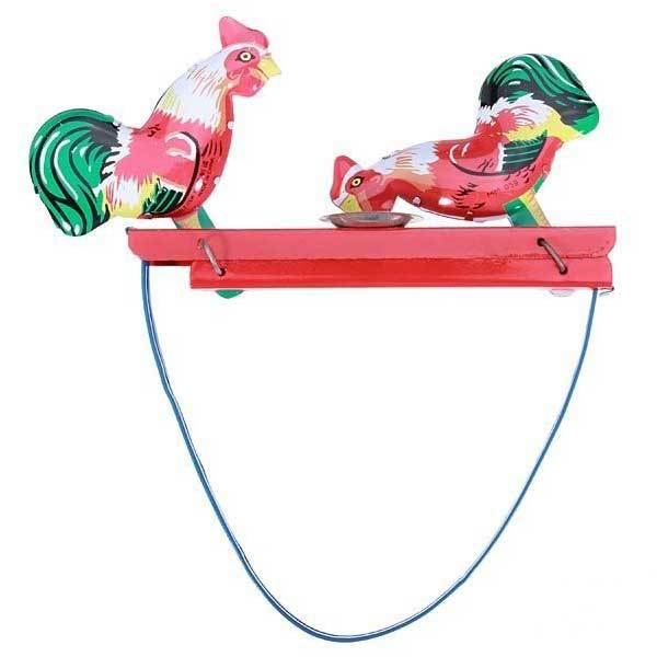 Coupeville Vintage Toy Tin Rooster Peck Working Condition Antique Tin Toy(China (Mainland))