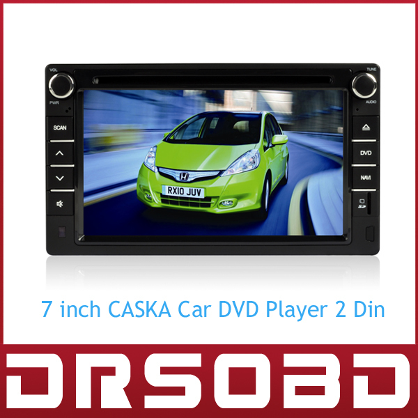 7 inch CASKA Car DVD player 2 din for universal cars GPS Navigation+Bluetooth+Radio+Multimedia OEM In Dash System(China (Mainland))