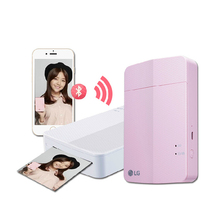 2015 Portable [Pink] Mini LG Printer Pocket PD251 Color Photo Printing Wireless Bluetooth for Android, iOS(China (Mainland))