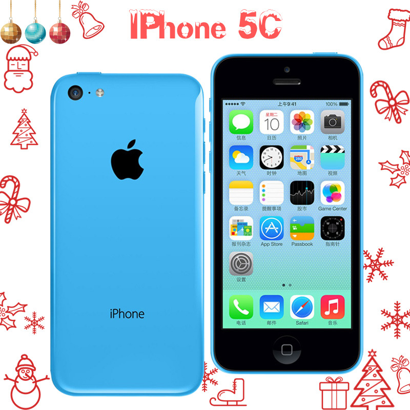Original Brand factory Unlocked Apple iPhone 5C Mobile Phone 16GB 32GB dual core WCDMA WiFi 8MP Camera Cell Phones Smartphone(China (Mainland))