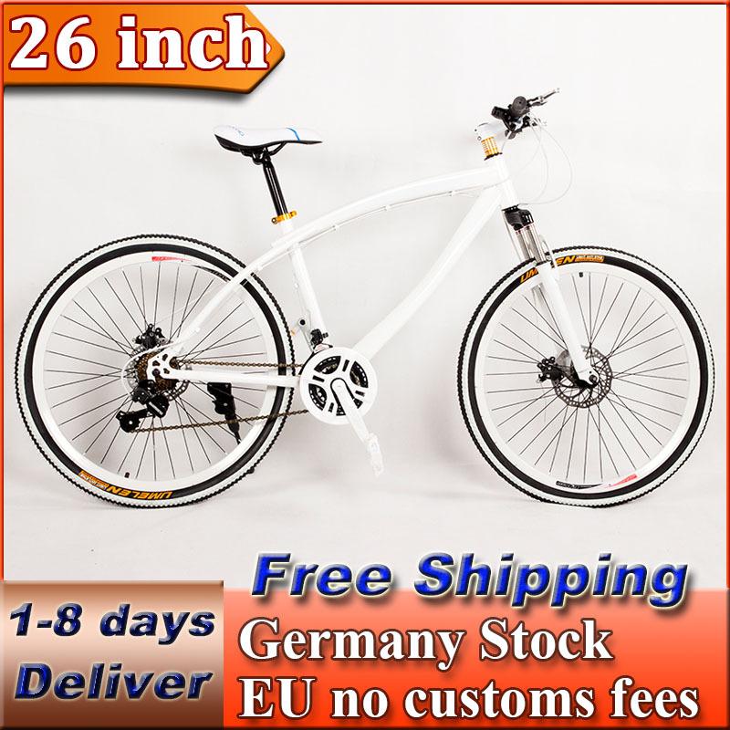 26 inch 21 Speed Mountain Bike Road Bicycle City Cruiser Bike Double Disc Brake Germany Stock EU no Customs Duty(China (Mainland))