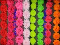 "24yards/lot  Free Shipping 42colors 2.5"" shabby chiffon rose trim chiffon frayed flowers DIY  baby children accessories"