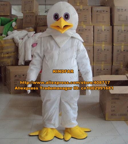 Delightful Snow Goose Geese Egret Serinus Canaria Java Sparrow Mascot Costume Cartoon Character Mascotte Pink Blue Eyes No.9800(China (Mainland))