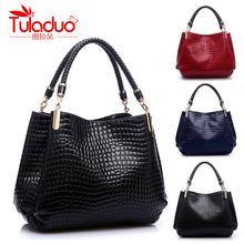 Hot Sale New 2014 Women Bag Crocodile Pattern PU Leather Handbag Lady Fashion Shoulder Bag Female Tote Bag Wholesale LD1129