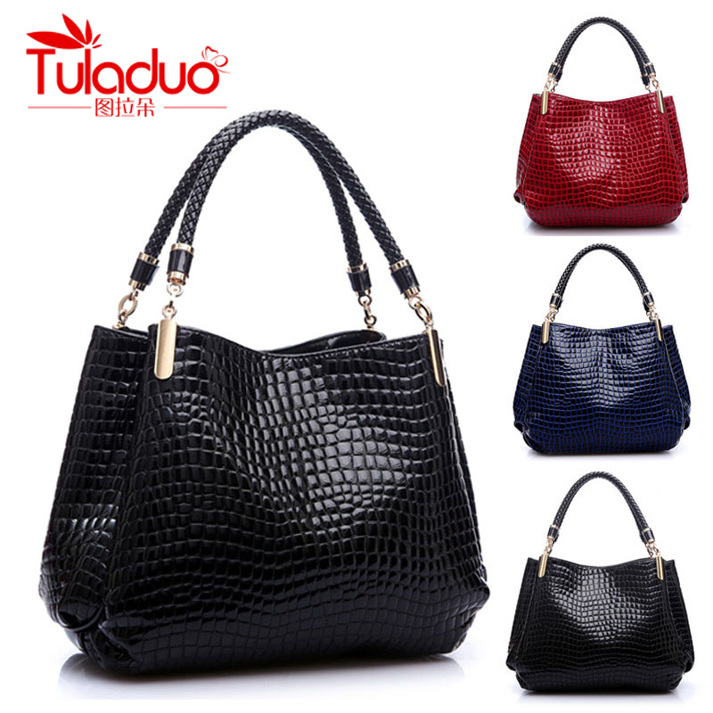 2015 New Fashion Desigual Brand Leather bolsas femininas Women Bags Pattern Handbag Shoulder Bag Female Tote Sac Crocodile Bag(China (Mainland))