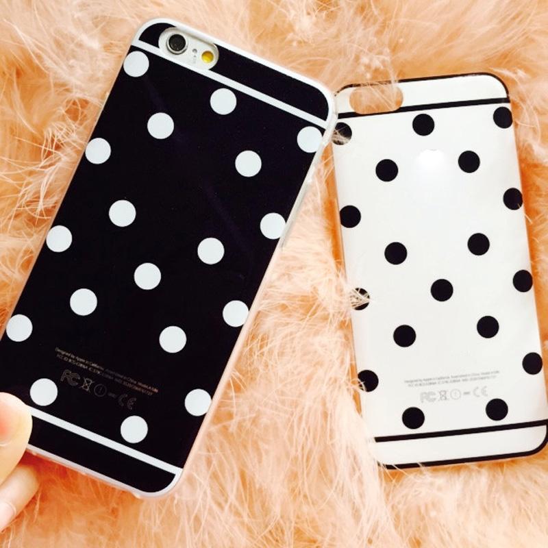Купить Телефоны и Телекоммуникации  Wholesale/Retail Cute Candy Colors Back phone Case for iphone 6 4.7 inch Fashion Soft TPU Polka Dot cell phone accessories  None